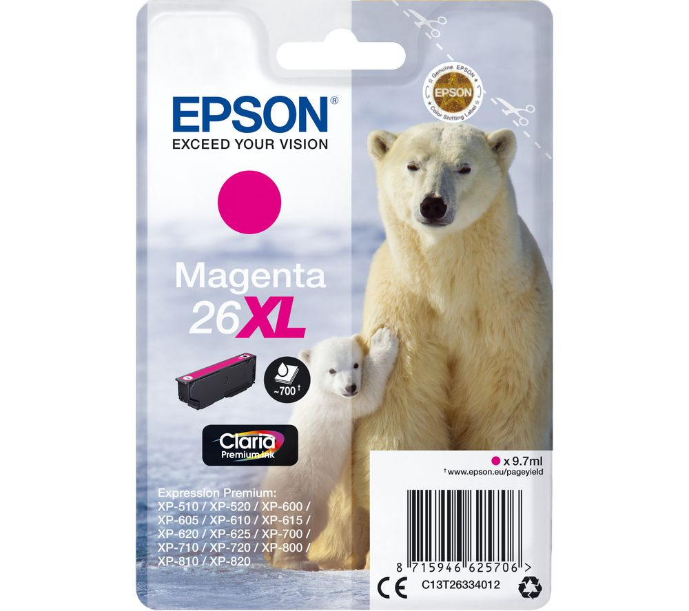 EPSON Polar Bear 26XL Magenta Ink Cartridge