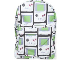NINTENDO Gameboy Print Backpack - White & Green