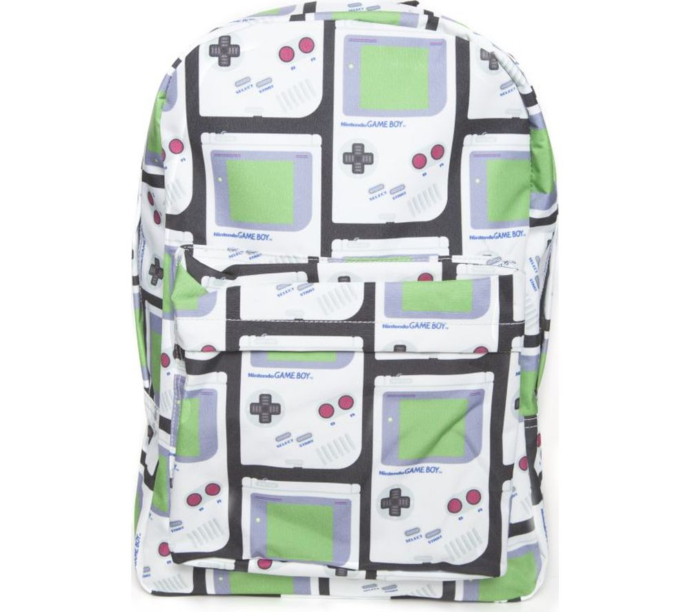 NINTENDO Gameboy Print Backpack - White & Green, White