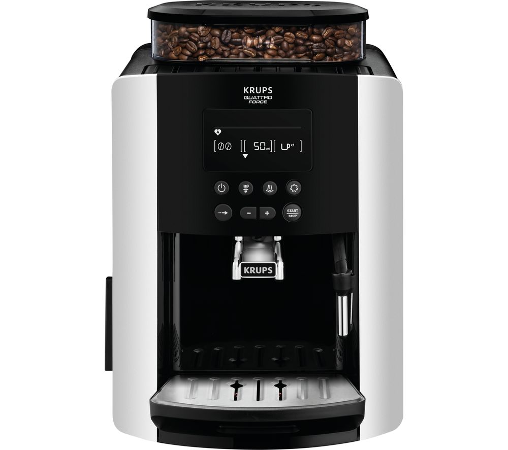 KRUPS Arabica Digital EA817840 Bean to Cup Coffee Machine - Silver
