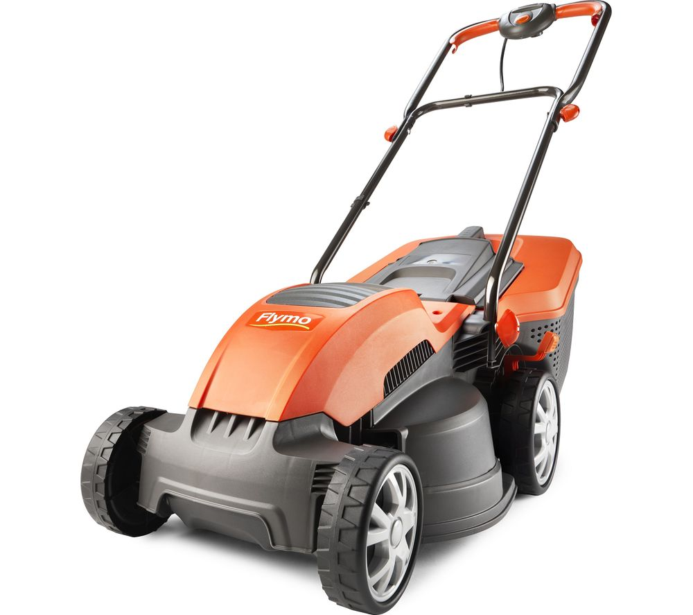 FLYMO Speedi-Mo 360C Rotary Lawn Mower - Orange & Grey