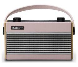 ROBERTS Rambler Portable DAB+/FM Retro Radio - Pink