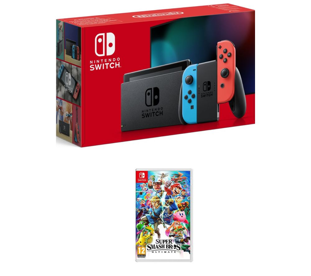 NINTENDO Switch & Super Smash Bros  Ultimate Bundle