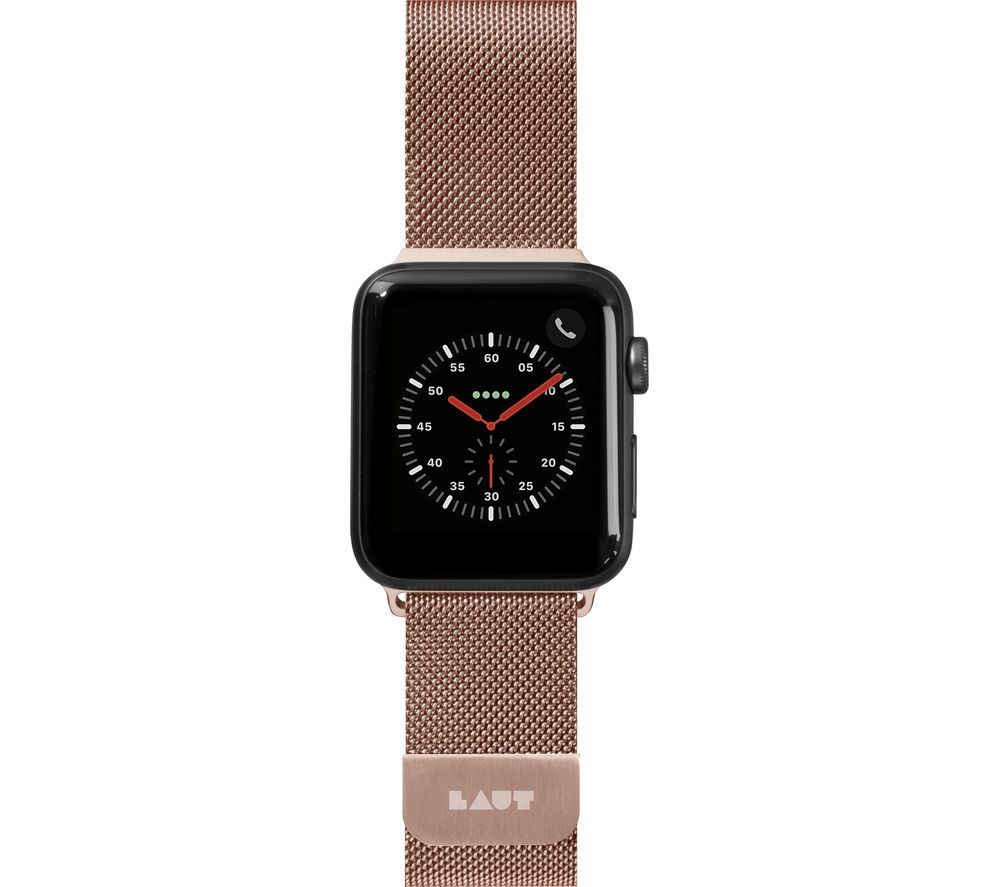 Image of LAUT Apple Watch 38 / 40 mm Steel Loop Strap - Rose Gold, Small, Gold