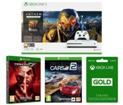 MICROSOFT Xbox One S, Anthem, Tekken 7, Project Cars 2 & 3 Months LIVE Gold Membership Bundle