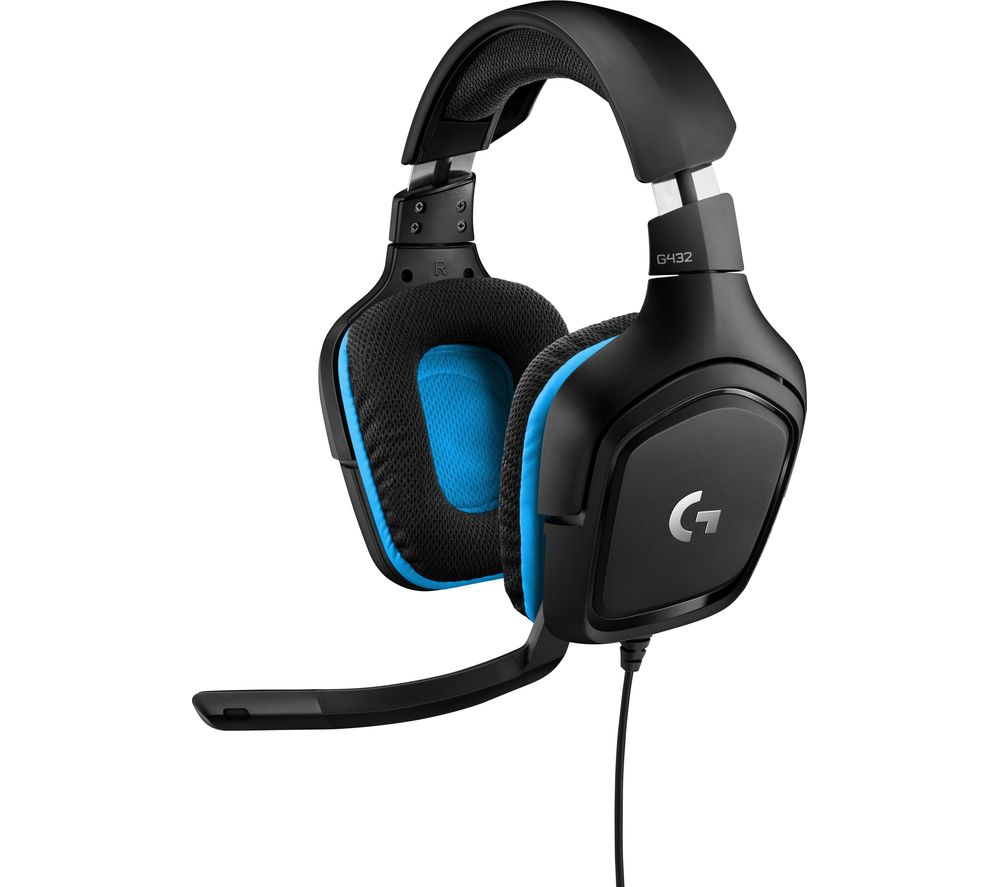 LOGITECH G432 Gaming Headset - Black & Blue