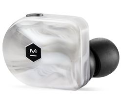 MW07 Wireless Bluetooth Earphones - White Marble