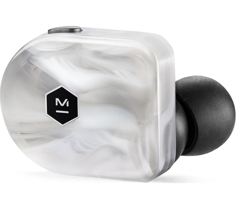Image of MASTER DYNAMIC W07 Wireless Bluetooth Earphones - White Marble, White