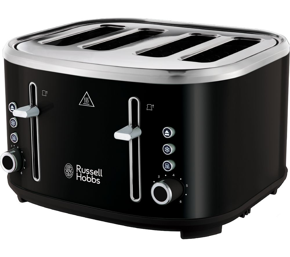 RUSSELL HOBBS Bubble 24415 4-Slice Toaster - Black