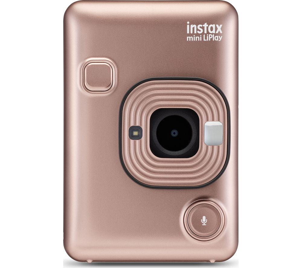 INSTAX LiPlay Digital Instant Camera – Blush Gold, Gold