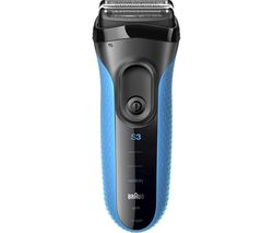 BRAUN Series 3 Shave&Style 3010BT Wet & Dry Shaver - Blue & Black
