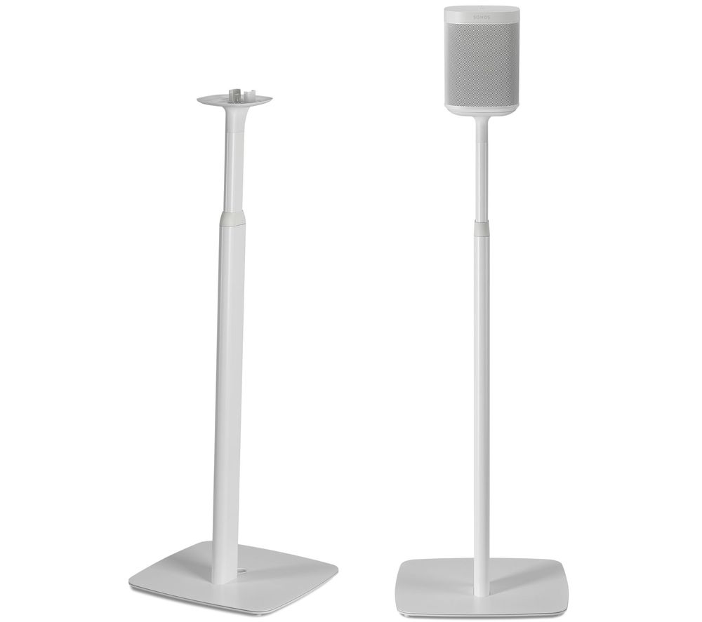 FLEXSON FLXS1AFS2011 Sonos One & Play:1 Adjustable Floorstand Pair - White