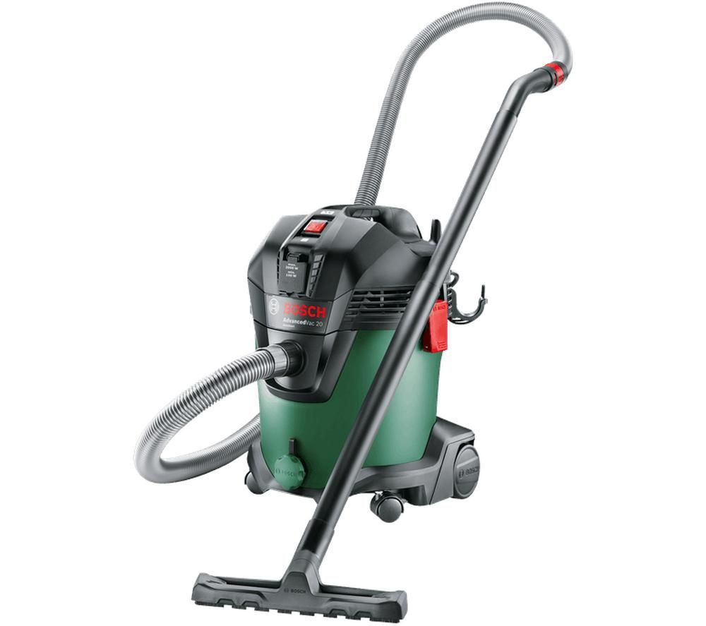 Image of BOSCH AdvancedVac 20 Cylinder Wet & Dry Vacuum Cleaner - Black & Green, Black