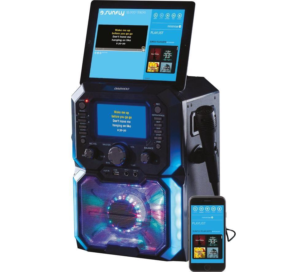 Image of DAEWOO AVS1302 Bluetooth Karaoke System - Black, Black