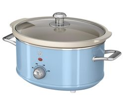 SWAN Retro SF17021BLN Slow Cooker - Blue Best Price, Cheapest Prices