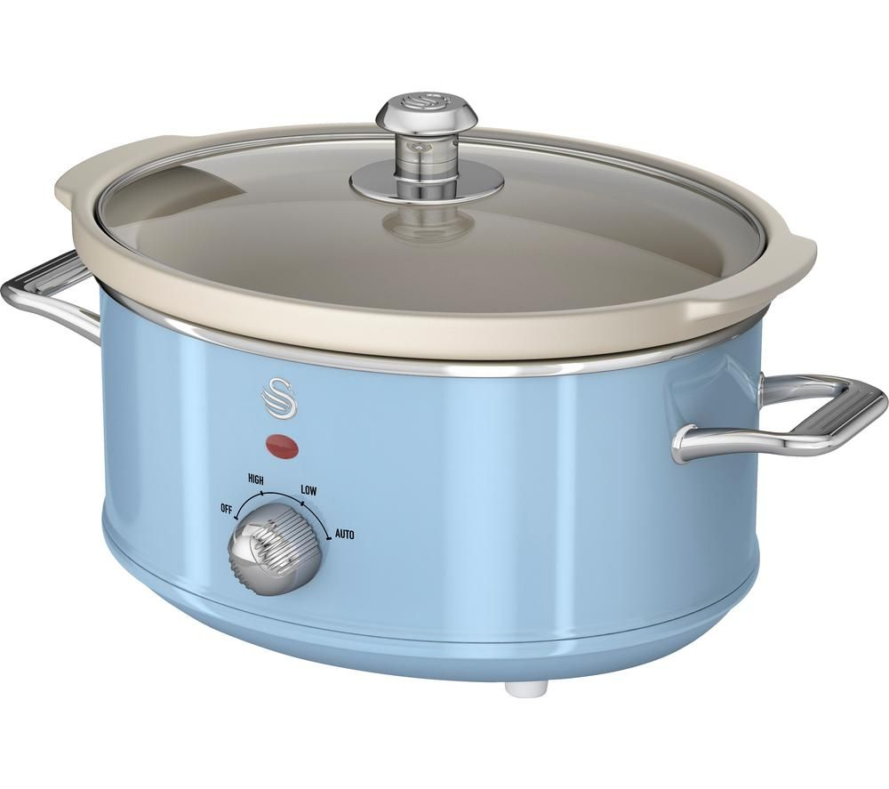 SWAN Retro SF17021BLN Slow Cooker - Blue