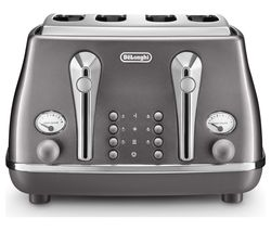 Icona Metallics CTOT4003.GY 4-Slice Toaster - Grey
