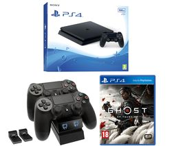 PlayStation 4, Ghost of Tsushima & Twin Docking Station Bundle - 500 GB