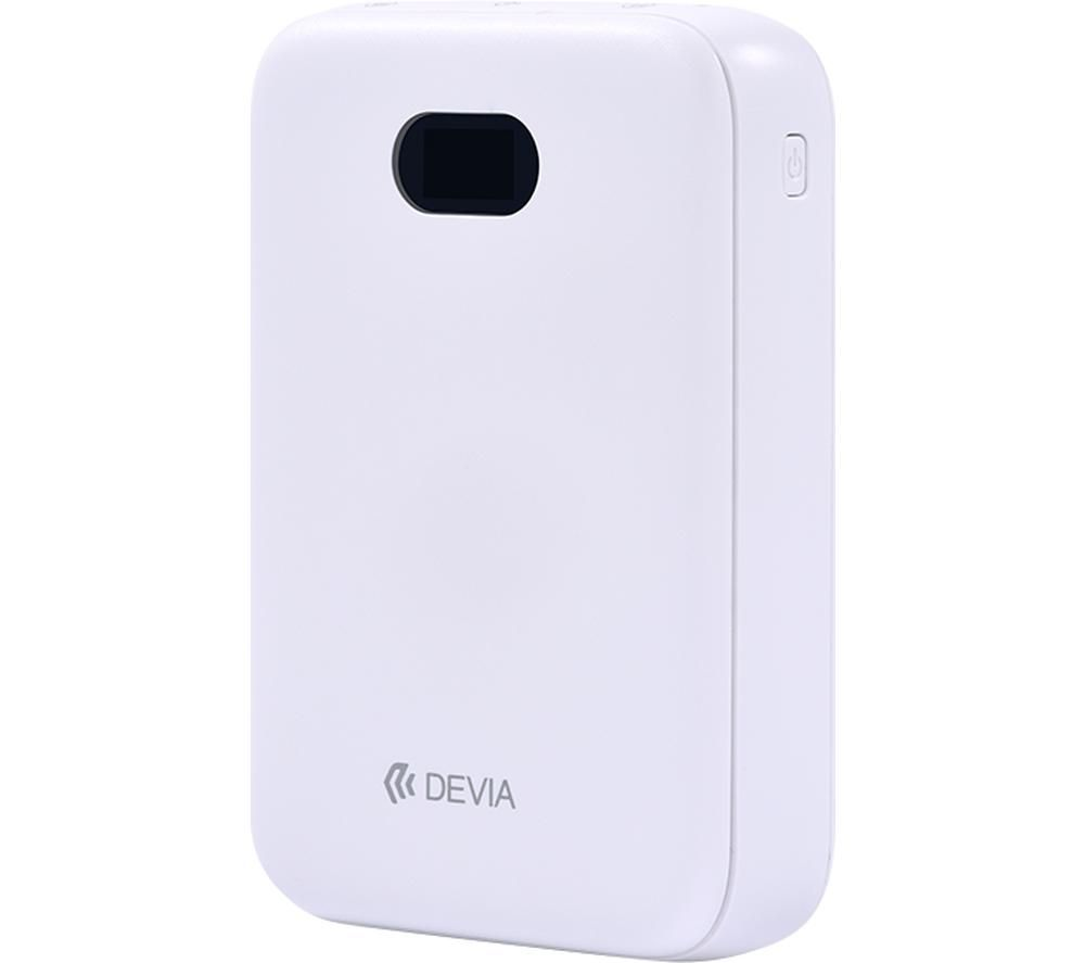DEVIA DEV-DIGITAL-POW10-WHT Portable Power Bank - White