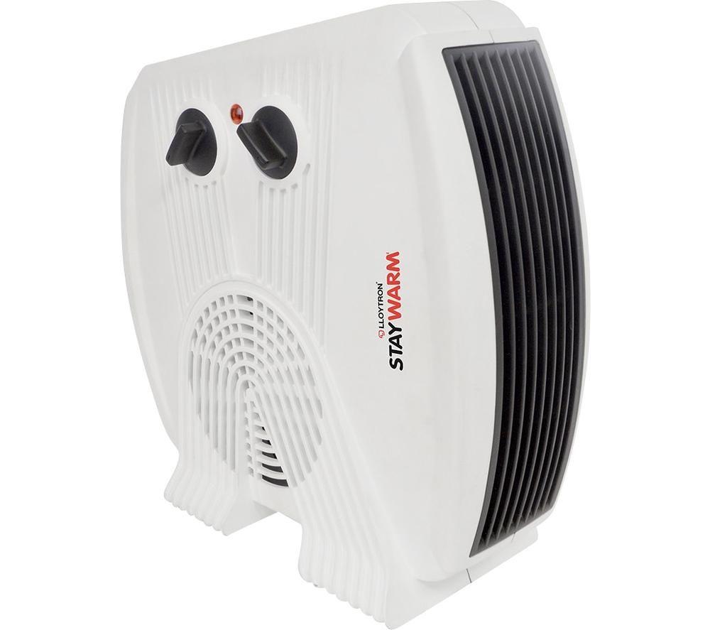LLOYTRON StayWarm F2035WH Hot & Cool Fan Heater - White