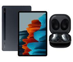 "SAMSUNG Galaxy Tab S7 11"" Tablet & Black Galaxy Buds Live Bundle"