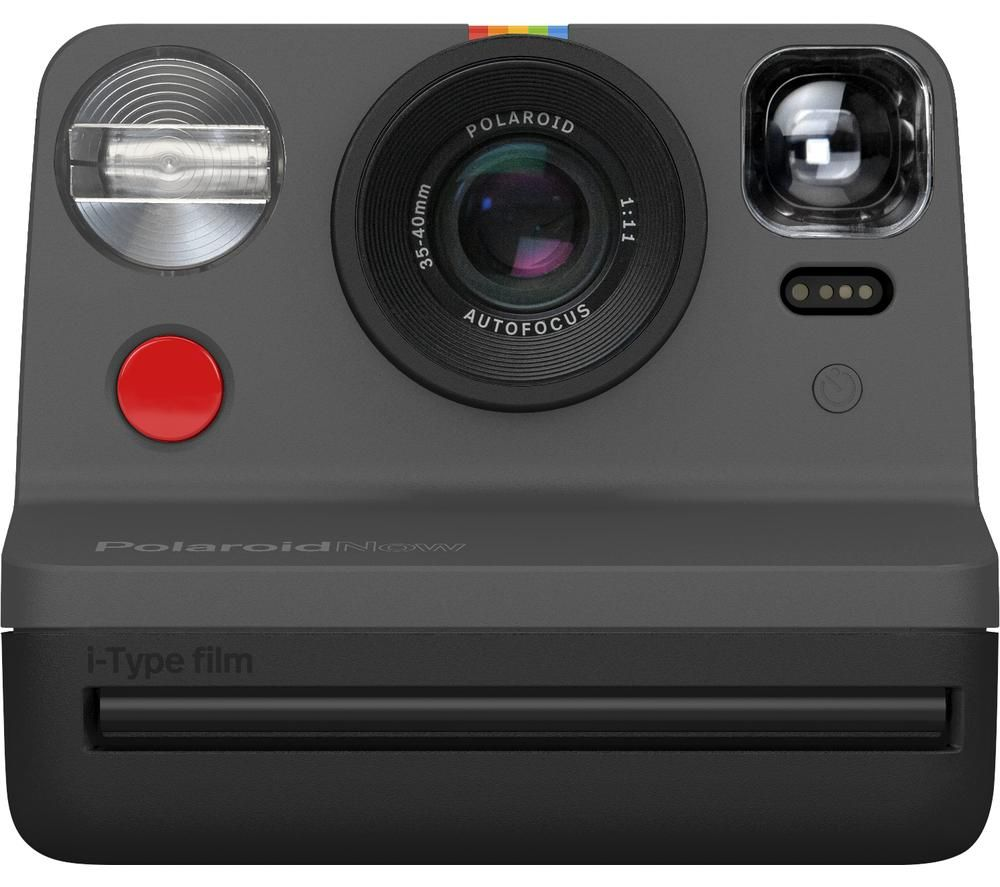 Polaroid Now Instant Camera Black Black