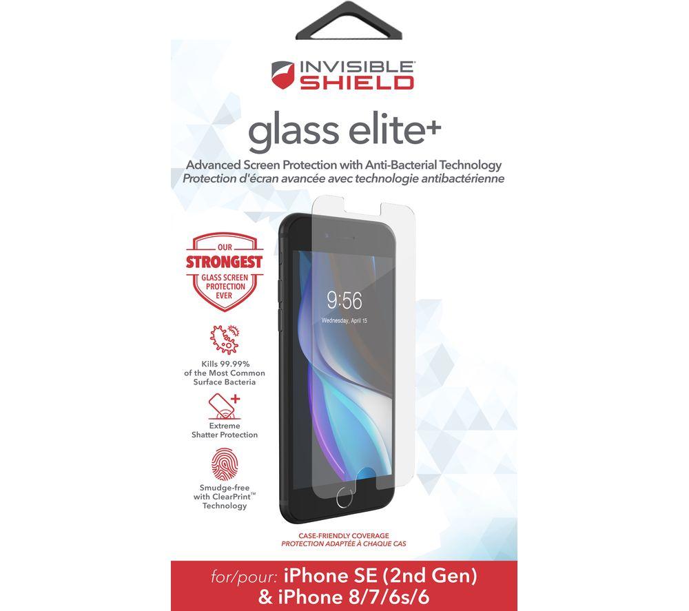 Zagg InvisibleShield Glass Elite+ iPhone SE / 8 / 7 / 6s / 6 Screen Protector