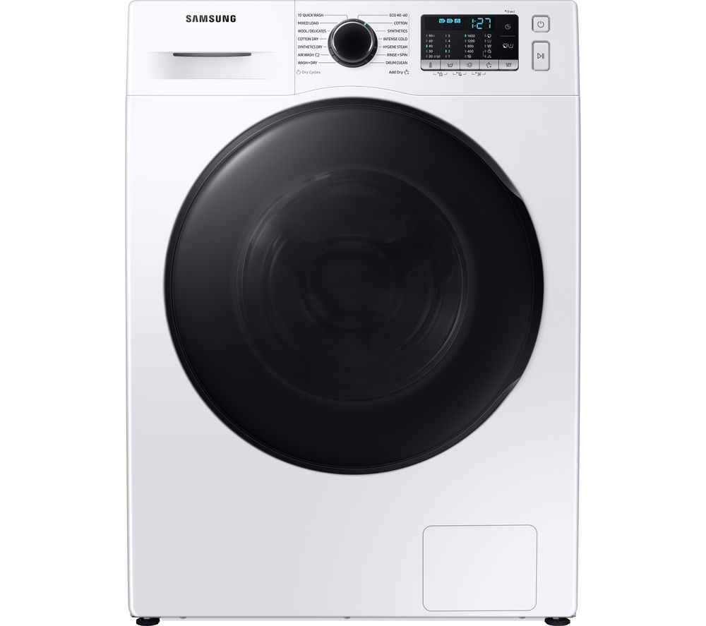 SAMSUNG ecobubble WD80TA046BE/EU 8 kg Washer Dryer - White