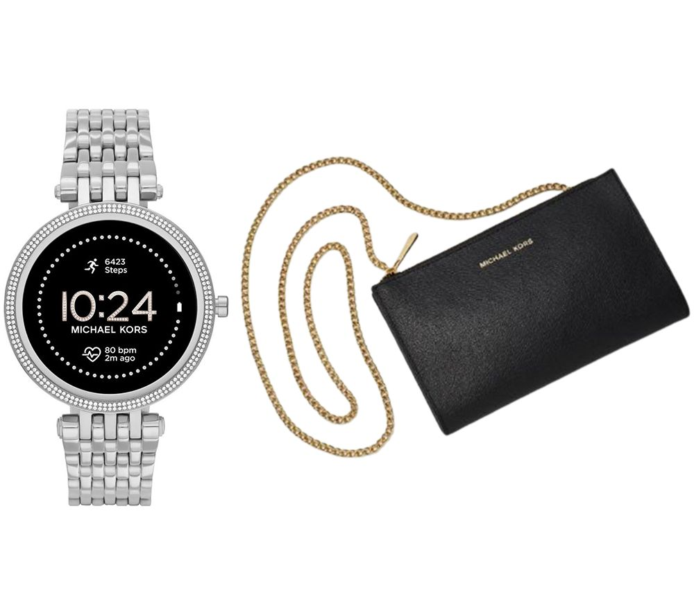 MICHAEL KORS Darci Gen 5E MKT5126 Smartwatch & Mini Messenger Bag Bundle