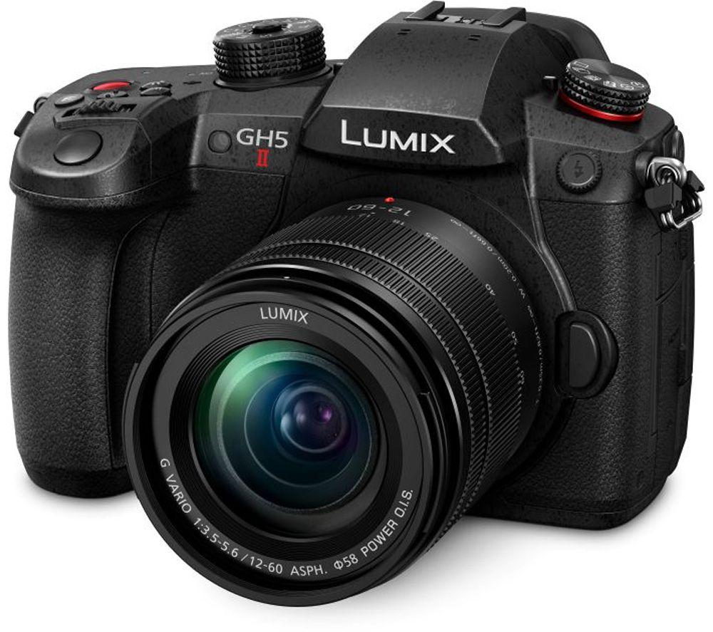 PANASONIC Lumix DC-GH5M2 Mirrorless Camera with 12-60 mm f/3.5-5.6 Lens - Black