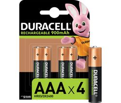 HR03/DX2400 Stay Charged AAA Rechargeable Batteries - Pack of 4