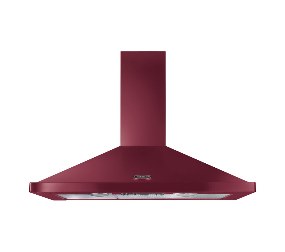 Image of RANGEMASTER CLAHDC110CY/C Chimney Cooker Hood - Cranberry, Cranberry