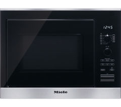 MIELE M6022SC Built-in Microwave with Grill - Black & Stainless Steel