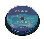 VERBATIM 52x Speed CD-R Blank CDs - Pack of 10