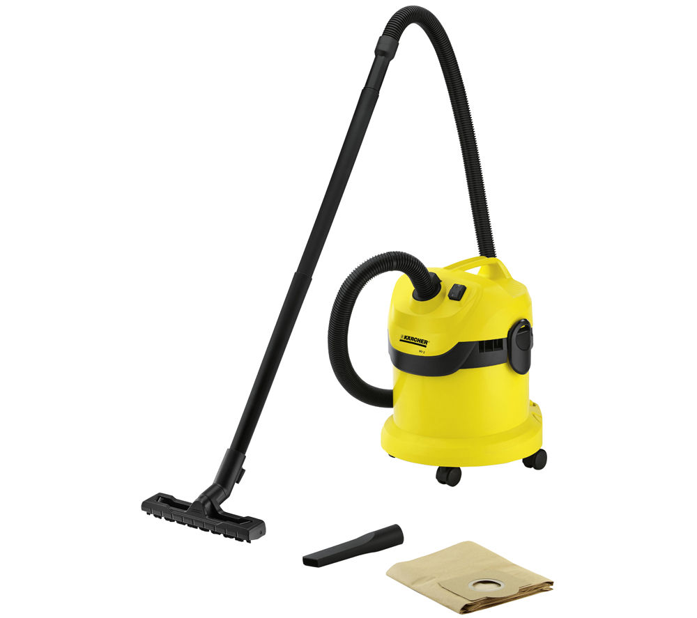 KARCHER MV2 Wet & Dry Cylinder Vacuum Cleaner - Black & Yellow