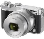 NIKON 1 J5 Mirrorless Camera with 10-30 mm f/3.5-5.6 Lens - Silver