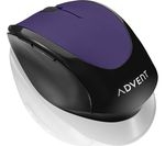 ADVENT AMWLPP15 Wireless Optical Mouse - Purple