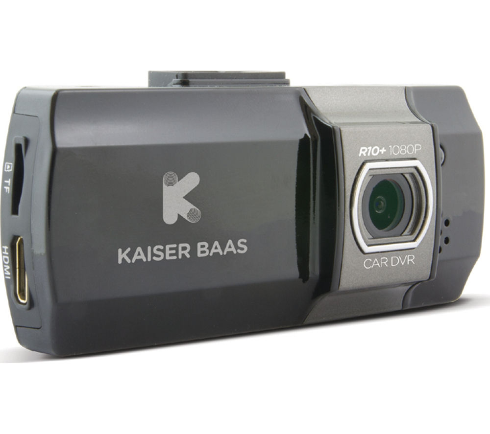 KAISER BAAS R10+ Dash Cam - Black + Ultra Performance Class 10 microSD Memory Card - 16 GB