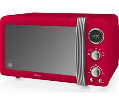 SWAN Retro Digital SM22030RN Solo Microwave - Red