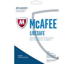 MCAFEE LiveSafe Unlimited 2017 - 1 year for unlimited devices (download)