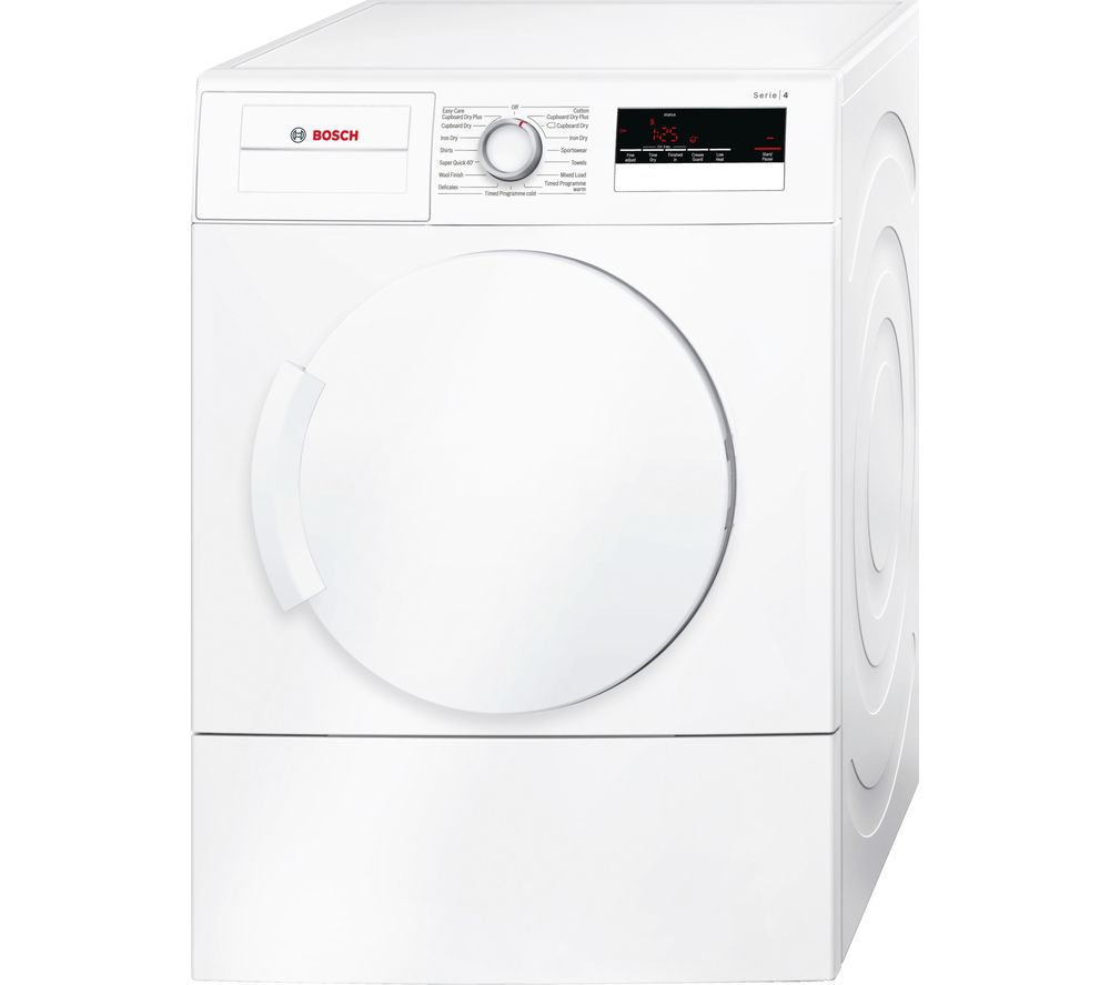buy bosch wta79200gb vented tumble dryer white free delivery currys. Black Bedroom Furniture Sets. Home Design Ideas