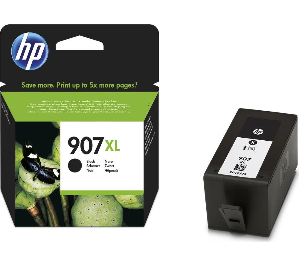 HP 907 XL Black Ink Cartridge + 100 x 150 mm Photo Paper - 30 Sheets