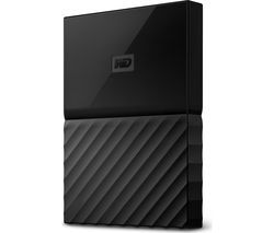 WD My Passport Portable Hard Drive - 1 TB, Black
