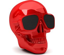 JARRE AeroSkull XS + Portable Wireless Speaker - Glossy Red