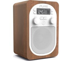 PURE Evoke H2 Portable DAB/FM Clock Radio - Walnut