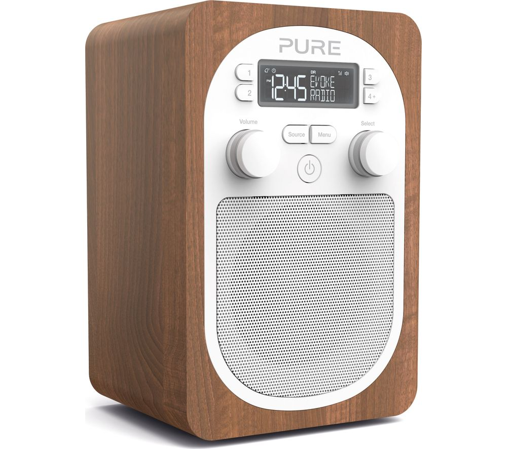 Pure Evoke H2 Portable Dab Fm Clock Radio Walnut