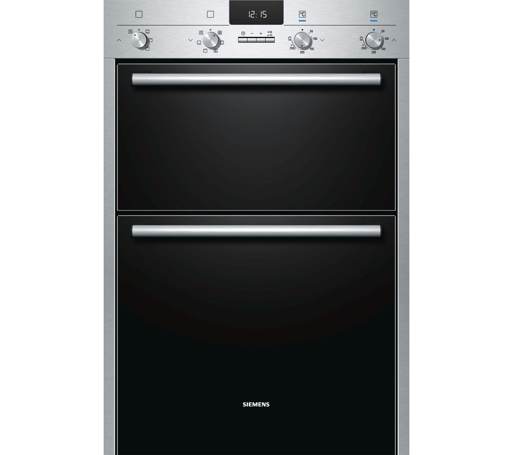 Image of SIEMENS HB43MB520B Electric Double Oven - Stainless Steel, Stainless Steel
