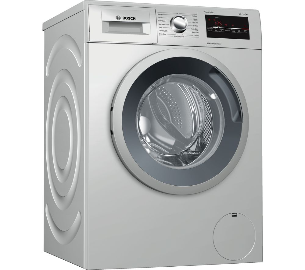 BOSCH Serie 4 WAN282X0GB 8 kg 1400 Spin Washing Machine - Inox