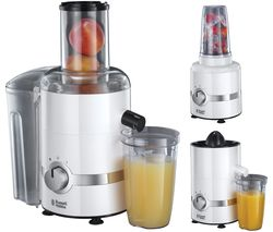 RUSSELL HOBBS 22700 3-in-1 Ultimate Juicer, Citrus Press & Blender - White & Chrome