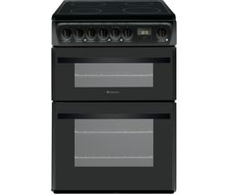 HOTPOINT Newstyle DCN60K 60 cm Electric Ceramic Cooker - Black